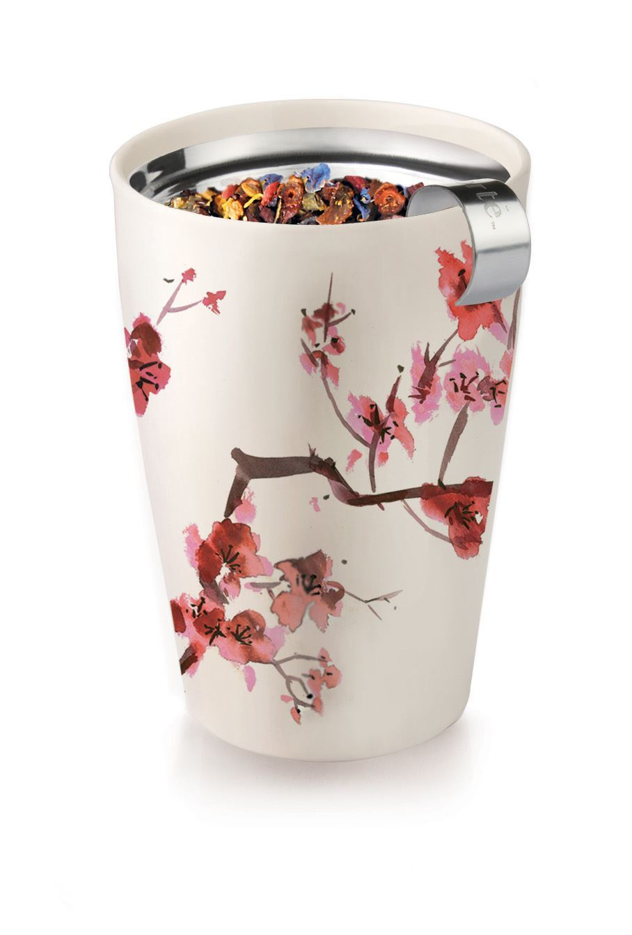 cherry blossom kati tea infuser mug the seasoned home. Black Bedroom Furniture Sets. Home Design Ideas
