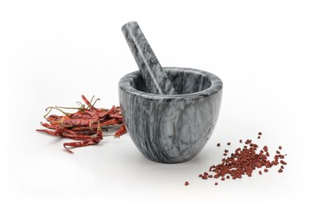 Picture of Grey Marble Mortar & Pestle