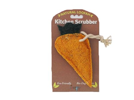 Carrot Loofah Kitchen Scrubber. The Seasoned Home