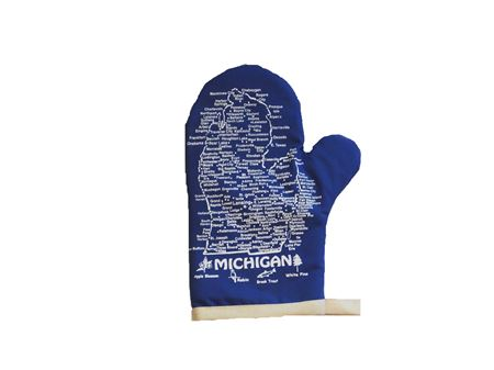Picture of Michigan Oven Mitt: Royal Blue