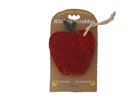 Picture of Red Apple Loofah Kitchen Scrubber