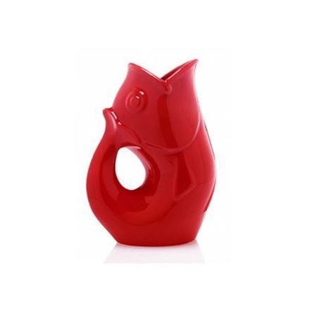 Picture of Large Gurgle Pot Bright Red